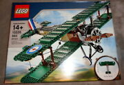 Lego Creator Expert 10226 Sopwith Camel Airplane, New And Sealed, Retired 2012 Set