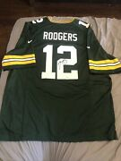 Aaron Rodgers Green Bay Packers Autographed Authentic Jersey Jsa Certified