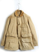 60's Vintage Brand Unknown Collar Corduroy Switching Cotton Duck Hunting Jacket