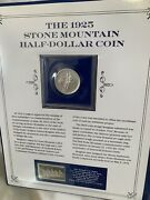 1925 Stone Mountain Half Dollar Coin With Stamp