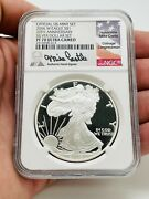2006-w 1 Proof Silver Eagle Ngc Pf70 Ultra Cameo Mike Castle Signed