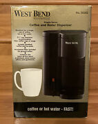 West Bend Single Serve Coffee And Hot Water Dispenser Model 56202