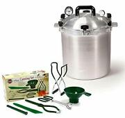 All American 25 Qt Pressure Cooker Bundle With 2 Racks And Norpro Canning Essent