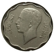 1938 Iraq 4 Fils, King Ghazi, Nickel Coin.without Mint Mark.