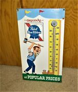 1960and039s Pabst Thermometer Pabst Man At Circus