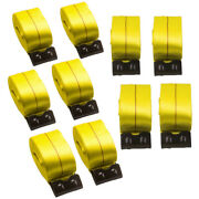 10 Set 4 X 30and039 Winch Straps W/ Flat Hooks Flatbed Truck Trailer Tie Down Straps