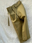 Rare Military Vintage During The War Wwii National Clothing Center Press Pants