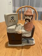 Pinkerton Security And Investigation Service 1991 Statue Chalkware Figurine