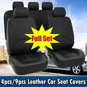 Pu Leather Car Seat Covers And All Weather Front Rear Cushions - Full Interior Set