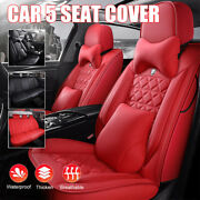 Car 5 Seat Covers Full Set Waterproof Pu Leather Fit For Chevrolet Auto Sedan