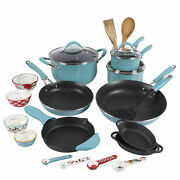 The Pioneer Woman Frontier Speckle 24-piece Cookware Combo Set Turquoise
