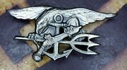 Rare Vietnam War 1970's U.s Navy Seal Enlisted Trident Badge 1/20 Silver Filled