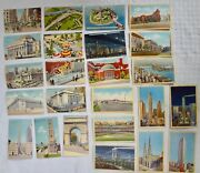 New York City Nyc Vintage Postcards Lot Of 24 1940and039s Alfred Mainzer Unposted
