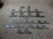 Vintage Lot Of 24 Lufkin Radius Gauges Machinist Tools Various Sizes And Shapes