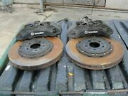2006-20 Charger Challenger Hellcat Brembo Brakes Front Calipers 6 Piston Black