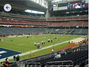 4 Lower Level Houston Texans Season Tickets With Blue Parking