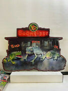 Budweiser 1999 Frogs Chameleon Embossed Metal Sign Bud - Weis - Er - New 32x24