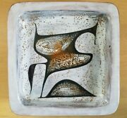 Pierre Saint Paul Sant Vicens Ceramic Square Dish Abstract Wall Art Pottery Sign
