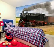 3d Steam Train Zhu314 Transport Wallpaper Wall Mural Removable Self-adhesive