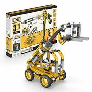 Engino Machinery Toys Tall Crane Motorized - 3-in-one Build 3 Iconic Machiner...