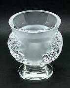 Lalique Saint Cloud Luxury Flower Vase With Engraving H11.5cm From Japan 33