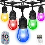 Color Changing Outdoor String Lights Weatherproof Shatterproof Music Auto Flash