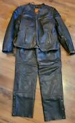 First Classic Leather Gear Size M Thermal Insulation Motorcycle Jacket And Chaps