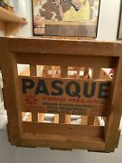 Pasque Yuma Melons Vintage Wooden Crate