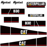 Graphics Kit Sticker Decal Wrap For Tractor Cat D3c