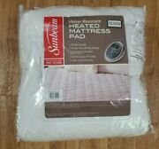 Sunbeam Queen Water Resistant Electric Heated Mattress Pad Dual Control Quilted