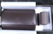 Patek Philippe Travel Case Two Watches Cufflinks Sets Leather Rare Box