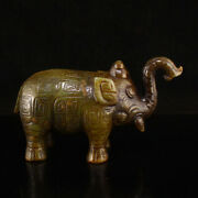 Chinese Antique Western Zhou Dynasty Jade Ornaments Carved Elephant Decoration