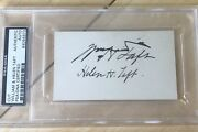 William Taft Autograph And First Lady Helen Taft Signed Us President Psa