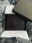 Patek Philippe Leather Wallet Gift New Condition With Box Watch Mens Card Case