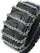 Snow Chains 10 16.5 10-16.5 Two-link V-bar Tractor Tire Chains Set Of 2