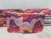 New Lot Of 100 X Clinique Colored Wave Cosmetic Makeup Bag