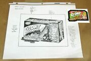 2004 Wacky Packages Ans1 Original Rough Art Concept Sketch By Jay Lynch Go-dirt
