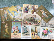 Lot Of 13 Victorian Sewing Trade Cards Thread, Patterns, Machines, Starch