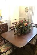 Drexel Travis Court Dining Table, 3 Leaves, China Cabinet/secretary And Buffet