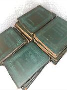 Antique Green Little Leather Library Redcraft Edition Lot Of 30 Little Books