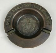 Wwii Vintage Bronze Naval Research Ashtray