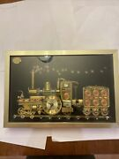 Vintage 1970's S B Evans Collage Working Locomotive Train Clock Made In England