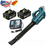 Cordless Leaf Dust Blower/charger/battery For Makita 18v 6.0ah Lxt Bl1860 Bl1830