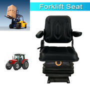 Forklift Seat Lawn Garden Tractor Seat Suspension Seat For Atv Lawn Mower Black