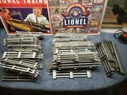Lot Of O27 And O Gauge 10 And 9 Straight Model Train Track Lionel 3 Sizes