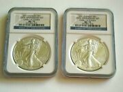 2 2011 S Silver Eagle 1.0025th Anniversary Ngc Ms70 Early Releases Rare
