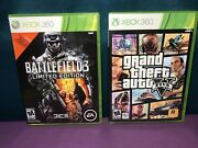 Lot Of 2 Games Grand Theft Auto V 5 Xbox 360 And Battlefield 3 Limited Editionandnbsp