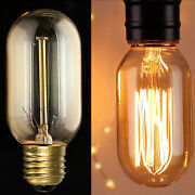 Vintage Industrial Filament Squirrel Cage Antique Style Edison Light Bulbs T45