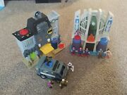 Imaginext Dc Comics Toy Lot 2 Playsets Vehicle And 10 Figures