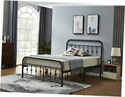 Metal Bed Frame Size, Platform With Vintage Headboard And Footboard, No Full